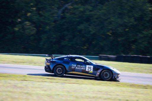 #25 Aston Martin Vantage AMR GT4 of Gray Newell, Heart of Racing, GT America Powered by AWS, GT4, SRO America, Virginia International Raceway, Alton, VA, June 2021.