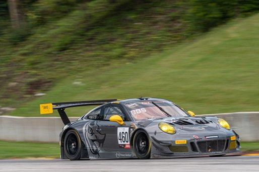 #460 Porsche 911 GT3 R (991) of Andy Wilzoch, Flying Lizard Motorsports, GT America Powered by AWS, SRO3 Masters, SRO America, Road America, Elkhart Lake, Aug 2021.